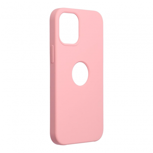Forcell Silicone Coque Pour iPhone 12 MINI Rose (Avec Trou)