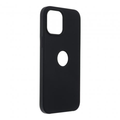 Forcell Silicone Coque Pour iPhone 12 PRO MAX Noir (Avec Trou)