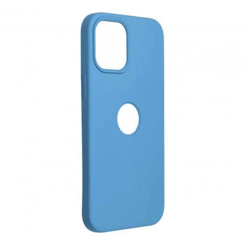 Forcell Silicone Coque Pour iPhone 12 PRO MAX Bleu Marine (Avec Trou)