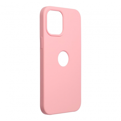 Forcell Silicone Coque Pour iPhone 12 PRO MAX Rose (Avec Trou)