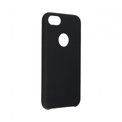 Forcell Silicone Coque Pour iPhone 7 Noir (Avec Trou)
