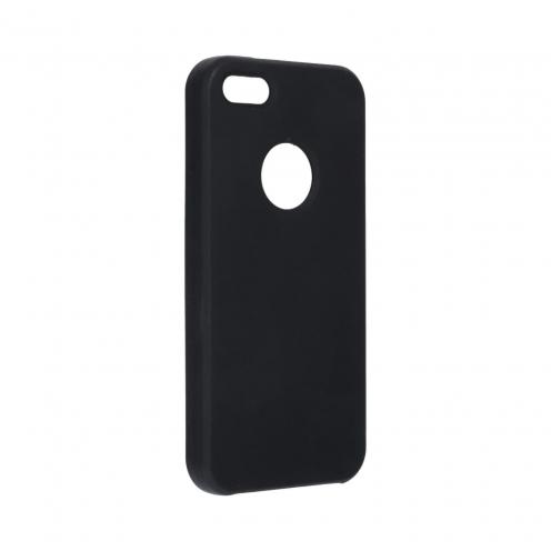 Forcell Silicone Coque Pour iPhone 5 / 5S / 5SE Noir (Avec Trou)