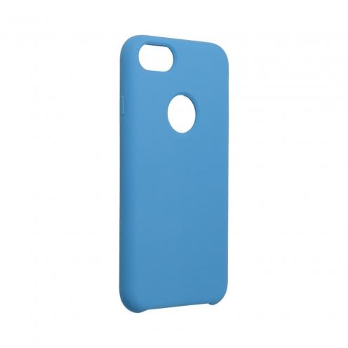 Forcell Silicone Coque Pour iPhone 7 Bleu Marine (Avec Trou)