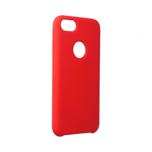 Forcell Silicone Coque Pour iPhone 7 Rouge (Avec Trou)