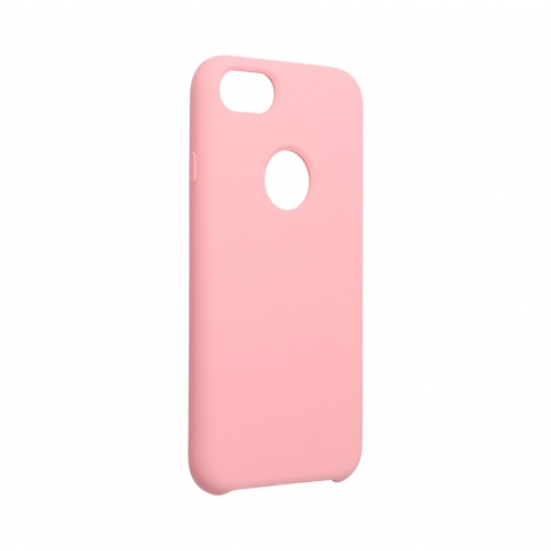Forcell Silicone Coque Pour iPhone 6 / 6S Rose (Avec Trou)