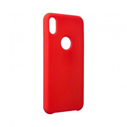 """Forcell Silicone Coque Pour iPhone XS Max ( 6,5"""" ) Rouge (Avec Trou)"""