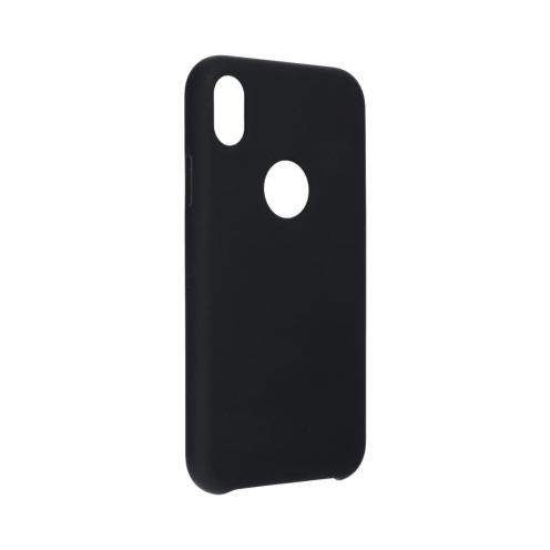 """Forcell Silicone Coque Pour iPhone XR ( 6,1"""" ) Noir (Avec Trou)"""