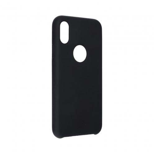 """Forcell Silicone Coque Pour iPhone XS ( 5,8"""" ) Noir (Avec Trou)"""