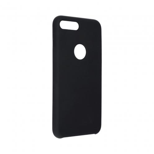 Forcell Silicone Coque Pour iPhone 8 PLUS Noir (Avec Trou)