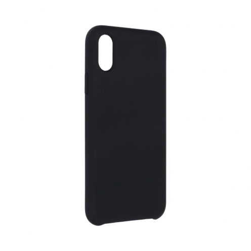 Forcell Silicone Coque Pour iPhone X Noir