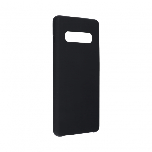 Forcell Silicone Coque Pour Samsung Galaxy S10 Plus Noir
