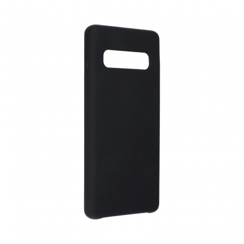 Forcell Silicone Coque Pour Samsung Galaxy S10 Noir