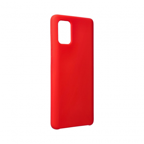 Forcell Silicone Coque Pour Samsung Galaxy A71 Rouge