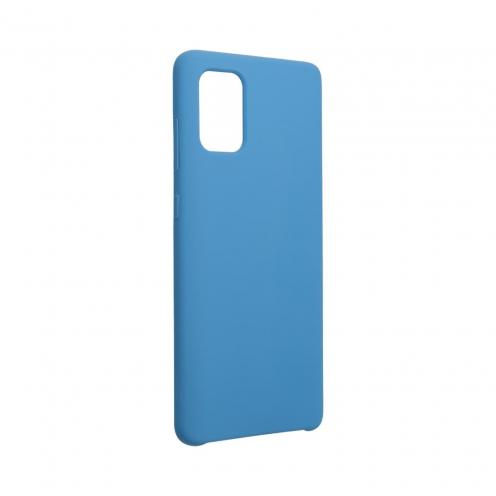 Forcell Silicone Coque Pour Samsung Galaxy A71 Bleu Marine