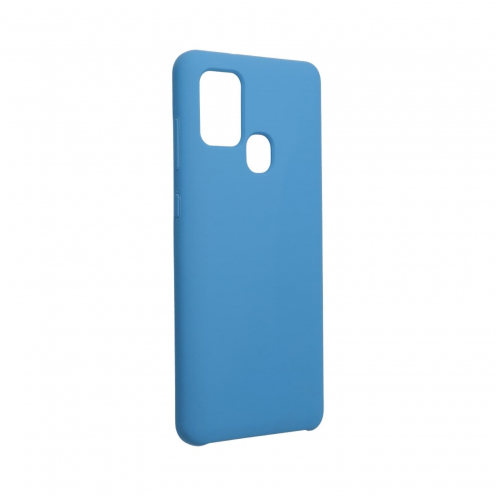 Forcell Silicone Coque Pour Samsung Galaxy A21S Bleu Marine