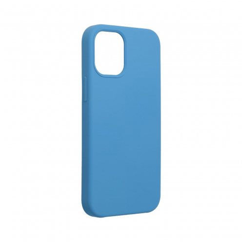 Forcell Silicone Coque Pour iPhone 12 MINI Bleu Marine