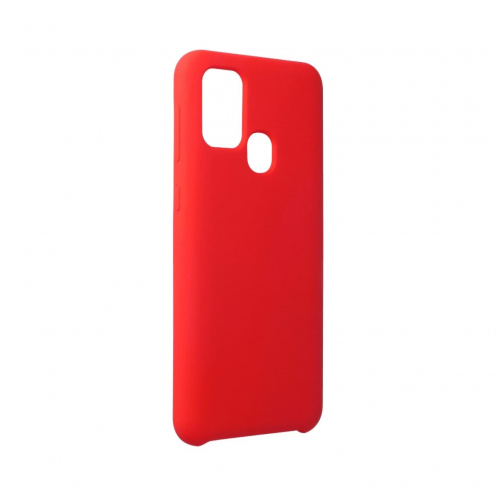 Forcell Silicone Coque Pour Samsung Galaxy M31 Rouge