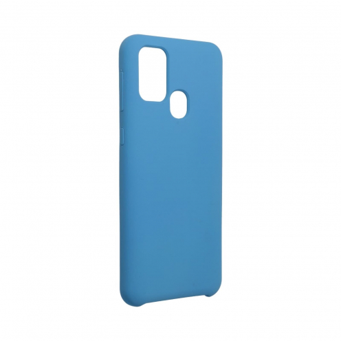 Forcell Silicone Coque Pour Samsung Galaxy M31 Bleu Marine