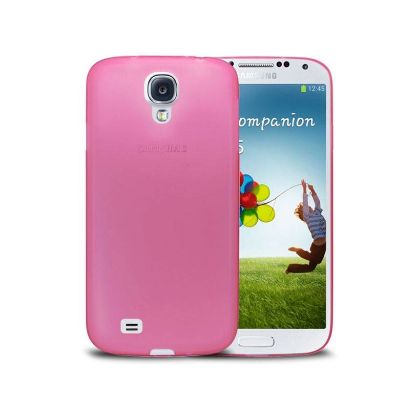 Photo réelle de Coque Ultra Fine 0.3mm Frost Samsung Galaxy S4 Rose
