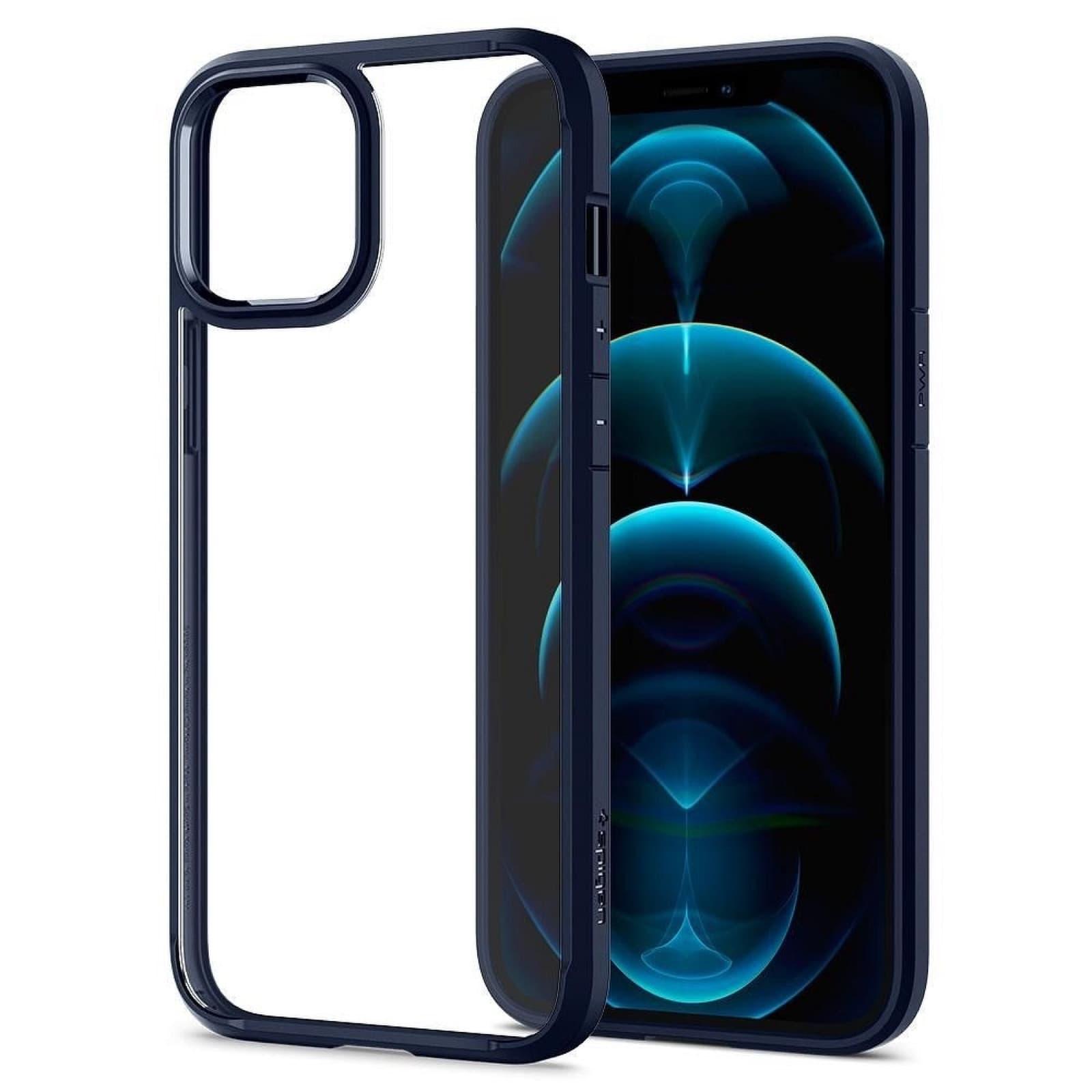 Coque Spigen® Ultra Hybrid Pour iPhone 12 PRO MAX Bleu Marine
