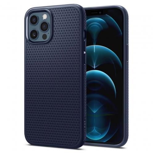 Coque Spigen® Liquid air Pour iPhone 12 PRO MAX Bleu Marine