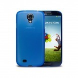 Photo réelle de Coque Ultra Fine 0.3mm Frost Samsung Galaxy S4 Bleue