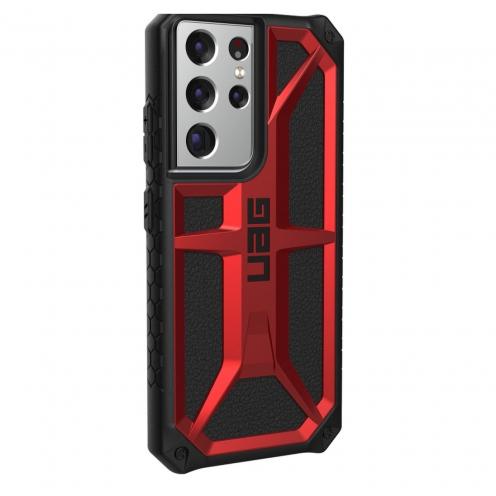 Coque Antichoc Urban Armor Gear® UAG Monarch Pour Samsung S21 ULTRA Rouge