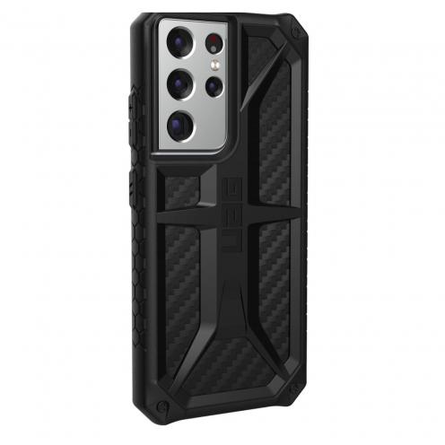 Coque Antichoc Urban Armor Gear® UAG Monarch Pour Samsung S21 ULTRA Fibre de Carbone