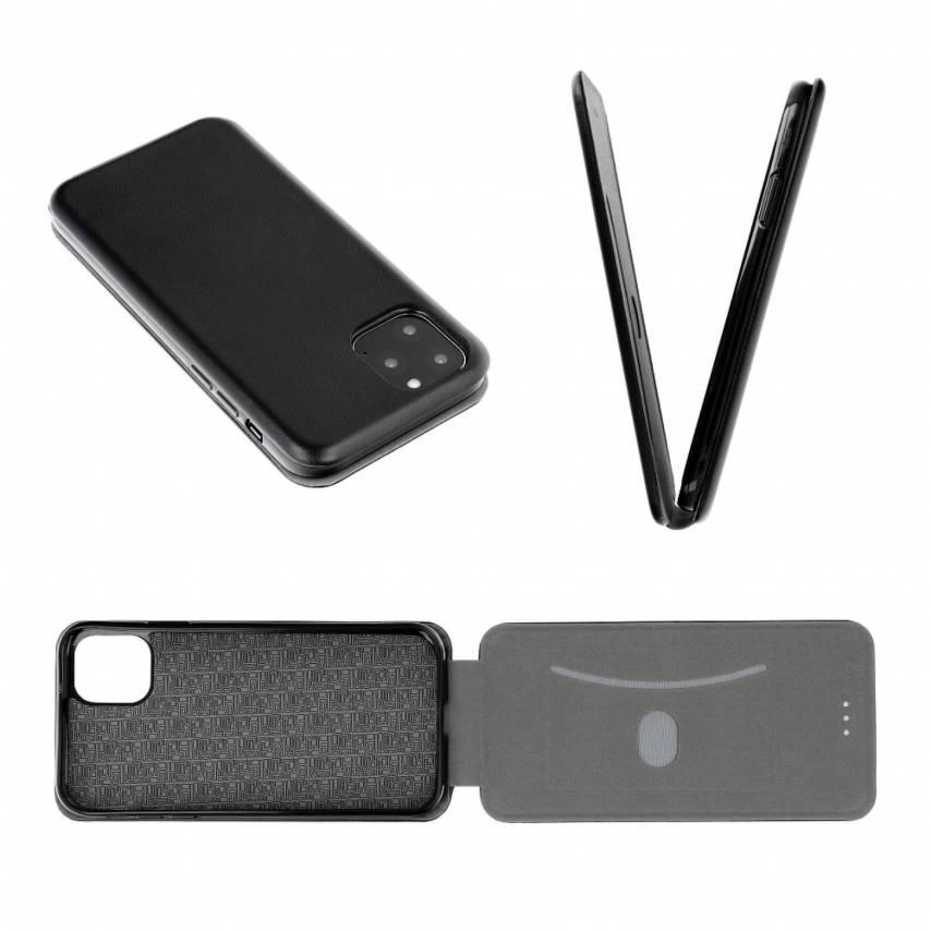 Etui à rabat vertical Elegance Flexi Pour Huawei P SMART 2019 Noir