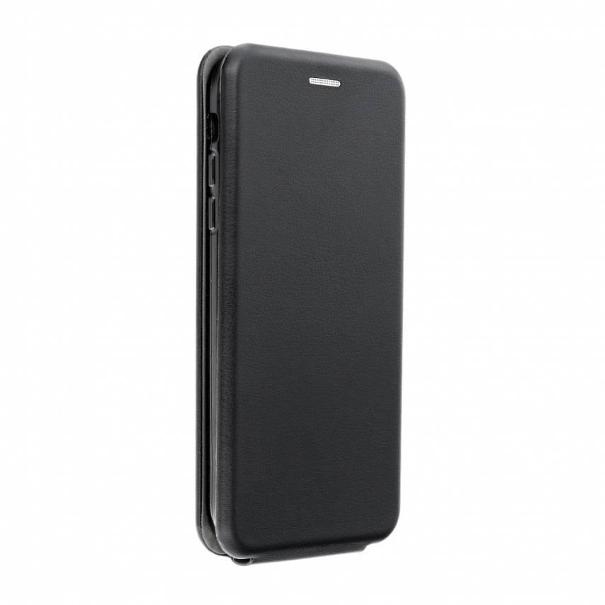 Etui à rabat vertical Elegance Flexi Pour Huawei Y6 2018 Noir