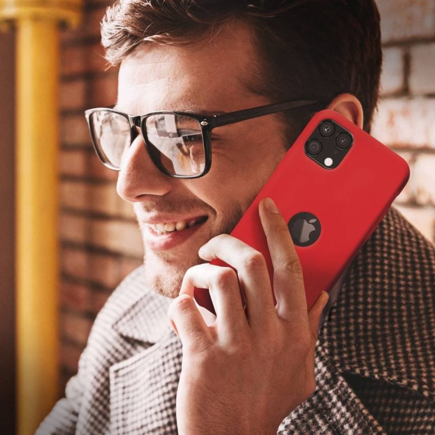 Forcell Silicone Coque Pour Huawei Y5P Rouge