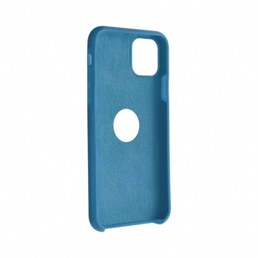 Forcell Silicone Coque Pour Huawei Y6P Bleu