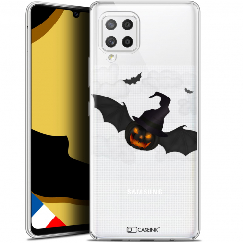 """Coque Gel Samsung Galaxy A42 5G (6.6"""") Halloween - Chauve Citrouille"""