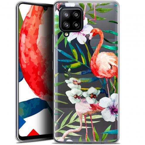 """Coque Gel Samsung Galaxy A42 5G (6.6"""") Watercolor - Tropical Flamingo"""