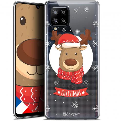 """Coque Gel Samsung Galaxy A42 5G (6.6"""") Noël - Cerf à Echarpe"""