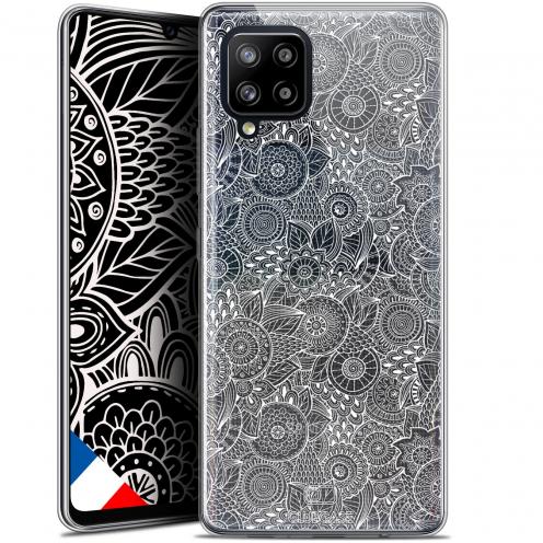 "Coque Gel Samsung Galaxy A42 5G (6.6"") Dentelle Florale - Blanc"