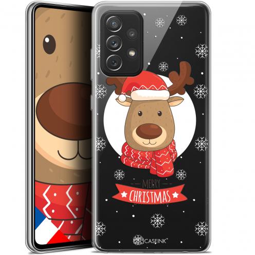 """Coque Gel Samsung Galaxy A72 4G/5G (6.7"""") Noël - Cerf à Echarpe"""