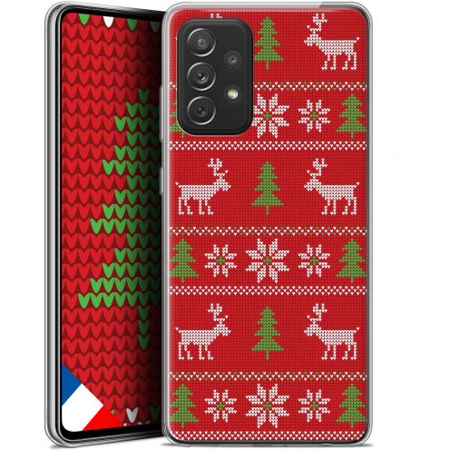 "Coque Gel Samsung Galaxy A72 4G/5G (6.7"") Noël - Couture Rouge"