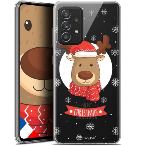 """Coque Gel Samsung Galaxy A52 5G (6.5"""") Noël - Cerf à Echarpe"""