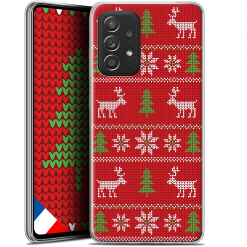 "Coque Gel Samsung Galaxy A52 5G (6.5"") Noël - Couture Rouge"