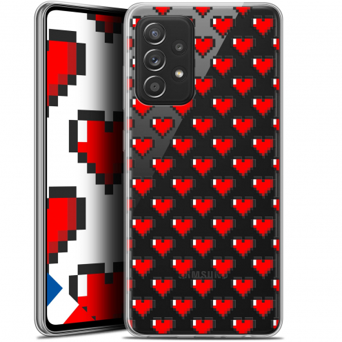 "Coque Gel Samsung Galaxy A52 5G (6.5"") Love - Pixel Art"