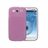 Photo réelle de Coque Ultra Fine 0.3mm Frost Samsung Galaxy S3 Rose