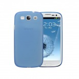 Photo réelle de Coque Ultra Fine 0.3mm Frost Samsung Galaxy S3 Bleue