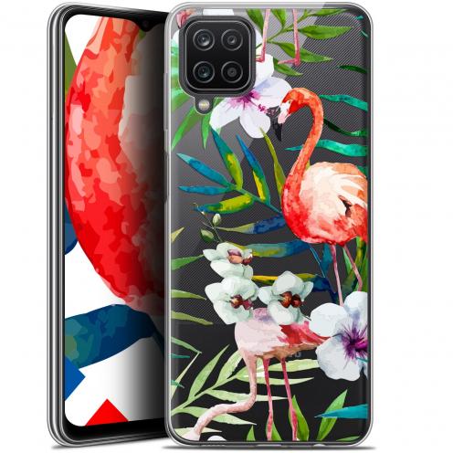 """Coque Gel Samsung Galaxy A12 (6.5"""") Watercolor - Tropical Flamingo"""