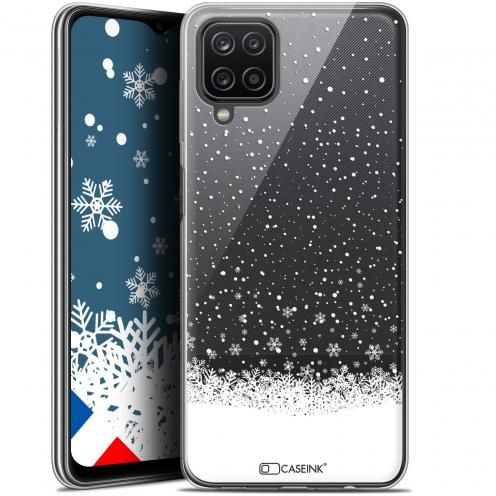 "Coque Gel Samsung Galaxy A12 (6.5"") Noël - Flocons de Neige"