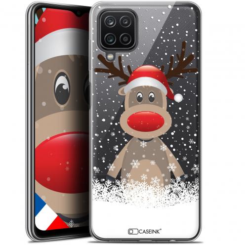 """Coque Gel Samsung Galaxy A12 (6.5"""") Noël - Cerf au Bonnet"""