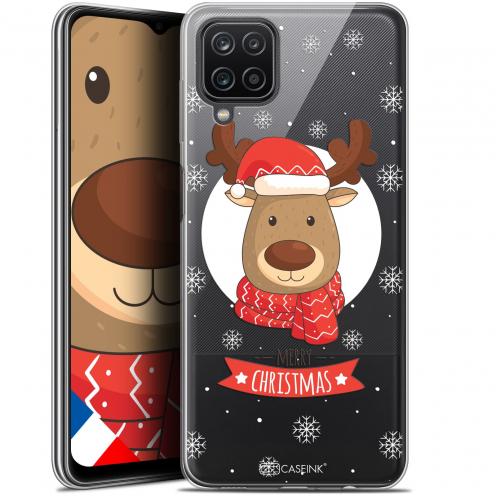 "Coque Gel Samsung Galaxy A12 (6.5"") Noël - Cerf à Echarpe"