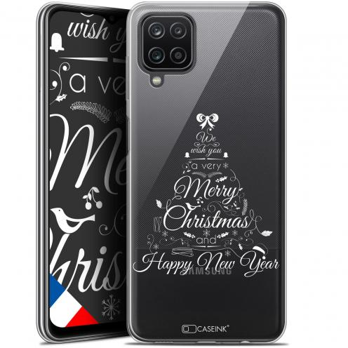 """Coque Gel Samsung Galaxy A12 (6.5"""") Noël - Calligraphie"""