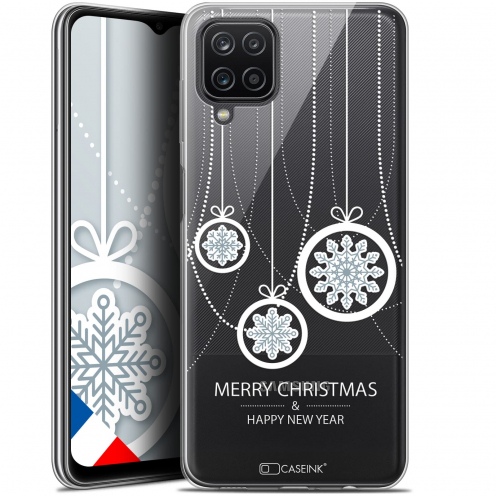 "Coque Gel Samsung Galaxy A12 (6.5"") Noël - Christmas Balls"