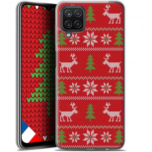 "Coque Gel Samsung Galaxy A12 (6.5"") Noël - Couture Rouge"